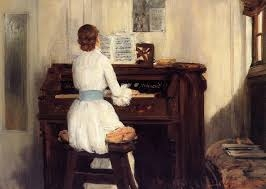 Young Woman at Piano; Julius LeBlanc Stewart; /www.the-athenaeum.org/